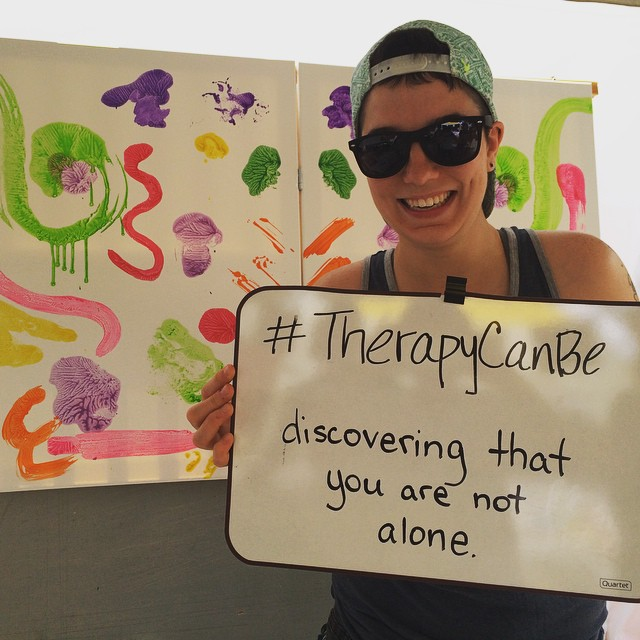 #therapycanbe discovering that you are not alone